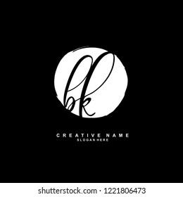 B K BK Initial logo template vector