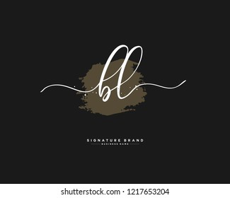 B L BL initial logo handwriting  template vector