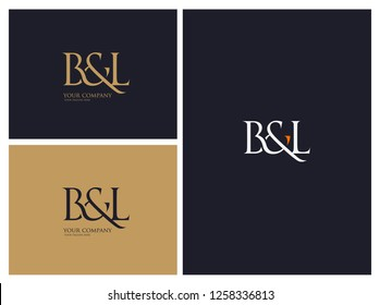 B & L letters Joint logo icon vector template.