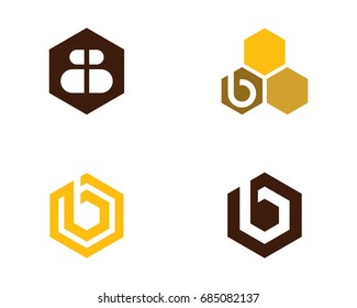 B Letter Bee Logo Template vector icon illustration design