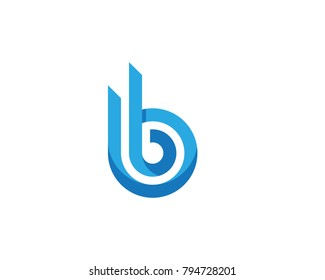 B Letter Business professional logo template