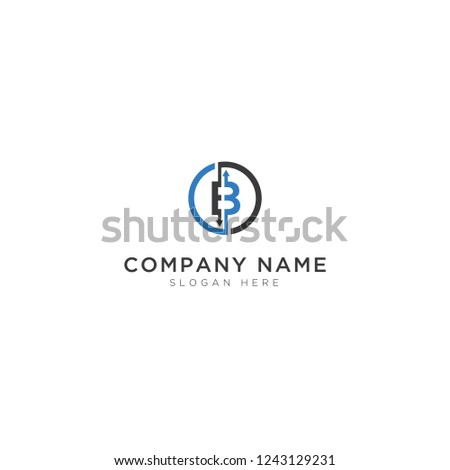 b letter coin abstract logo template stock vector royalty free