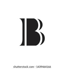 B letter initial logo design vector template