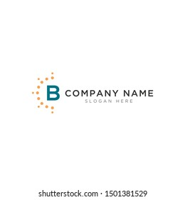 B letter with light abstract Logo Template Design Vector, Emblem, Design Concept, Creative Symbol, Icon