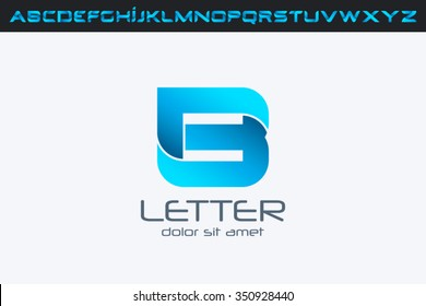 B Letter Logo, alphabet logo design.