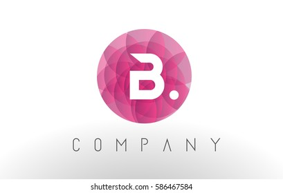 B Letter Logo Design with Circular Purple Rounded Pattern.