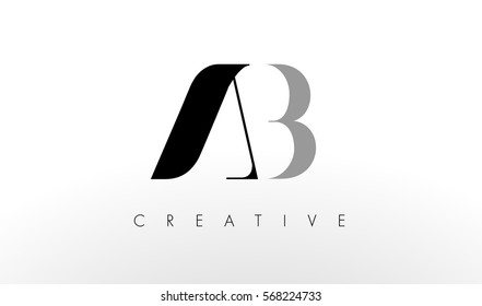 A B Letter Logo Design. Creative Modern AB Letters Icon Illustration.