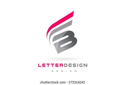 B Letter Logo Design. Futuristic Modern Lettering Concept Vector.