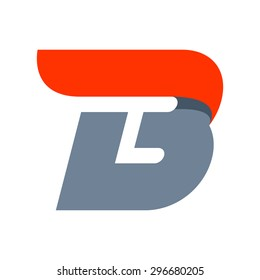 B letter logo design template. Fast speed vector unusual letter. Vector design template elements for your application or company.