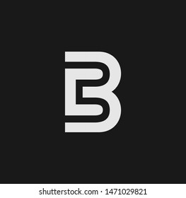 B letter logo and icon design
