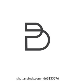 b letter symbol typeface b icon template
