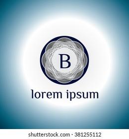 B letter vector logo template (sign, symbol, emblem, ornament)
