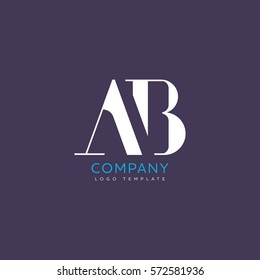 A B Letters Logo