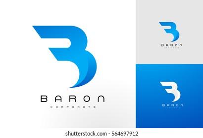 B Logo Bleu .B Lettre Icône Création Illustration Vectorielle.