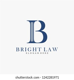 B logo design, law firm, and vector