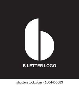 B Logo. B Letter Design Vector Illustration Modern Monogram Icon.