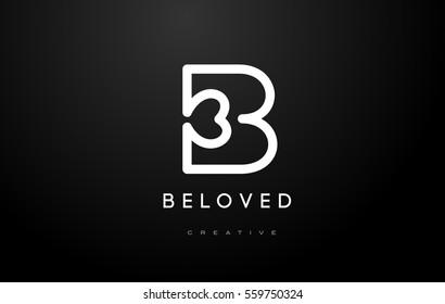B Logo.B Letter Design Vector Illustration Modern Monogram Icon.