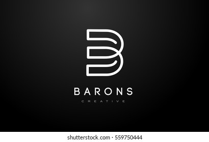 B Logo.B Letter Design Vector Illustration Modern Monogram Icon.