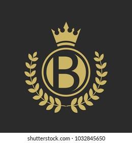 B Luxury logo,Design for Boutique hotel,Resort,Restaurant, Royalty, Victorian identity, luxury Hotel, Heraldic, Fashion,VIP,Club,education Full vector logo template.