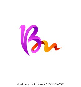 B and M logo design template, BM icons, Calligraphy logos