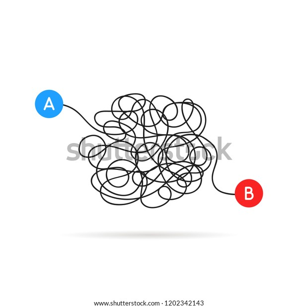 B Messy Scribble Line Stroke Flat Stock Image Download Now
