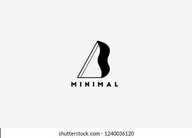 b minimal logo