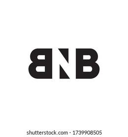 B N B letter logo design vector