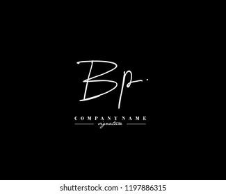 B P BP Signature initial logo template vector