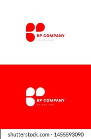 B P company logo template.