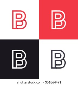 B P Letter Logo icon design template elements. Graphic Alphabet Symbol for Corporate Business Identity. Creative Typographic Concept Icon - ?????