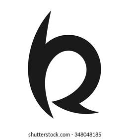 b and r logo vector.