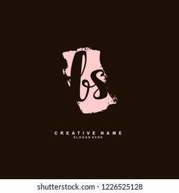 B S BS Initial logo template vector