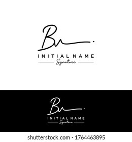 B V BV Initial letter handwriting and signature logo.