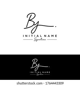 B Y BY Initial letter handwriting and signature logo.