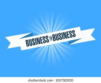 B2B Business to business ribbon