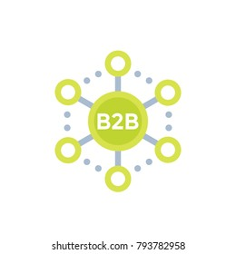 b2b commerce, sales vector icon