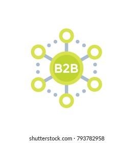 b2b commerce, sales vector icon