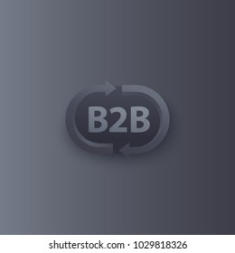 b2b commerce vector logo with arrows