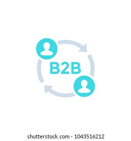 b2b icon, business to business concept