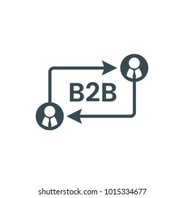 B2B icon isolated on white.