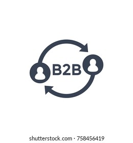 b2b icon on white