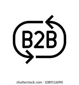 B2B icon, vector illustration