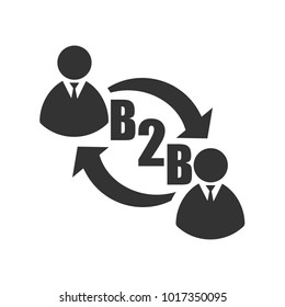 b2b icon. Vector illustration. Eps 10.