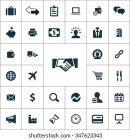 B2B icons universal set for web and mobile