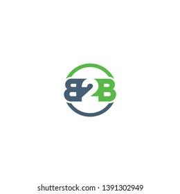b2b letter logo design vector