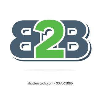 B2B letters logo.