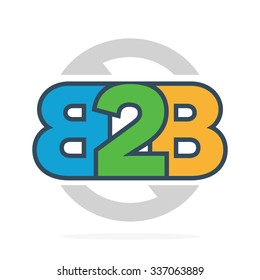 B2B letters logo or icon.
