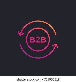 b2b marketing icon on dark