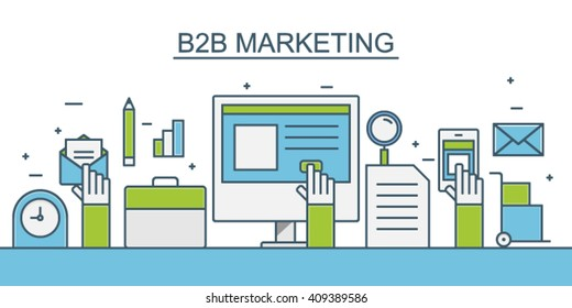 B2B Marketing Vector