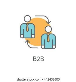 B2B Vector Icon